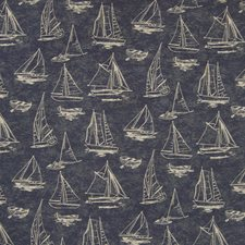 Navy Novelty Decorator Fabric by Greenhouse