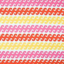 Coral Sunshine Tropical Decorator Fabric by Greenhouse