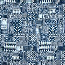 Classic Navy Geometric Decorator Fabric by Greenhouse