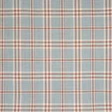 Sky Plaid Check Decorator Fabric by Greenhouse