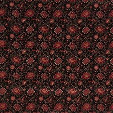 Black/Burgundy/Red Animal Decorator Fabric by Kravet
