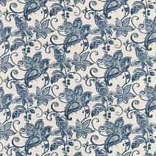 Batik Blue Decorator Fabric by Kasmir