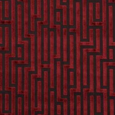 Claret Contemporary Decorator Fabric by G P & J Baker