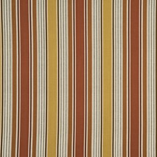 Coral Stripes Decorator Fabric by G P & J Baker