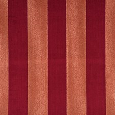 Cranberry/Amber Stripes Decorator Fabric by G P & J Baker