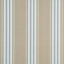 Aqua Stripes Decorator Fabric by G P & J Baker