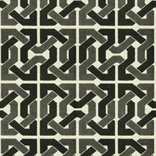 Black/Grey Geometric Decorator Fabric by G P & J Baker
