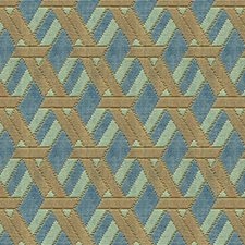 Aqua/Taupe Contemporary Decorator Fabric by G P & J Baker