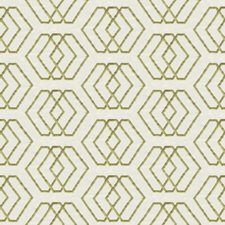 Ivory/Lime Geometric Decorator Fabric by G P & J Baker