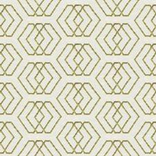 Ivory/Lime Geometric Decorator Fabric by G P & J Baker