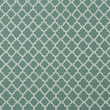 Teal Embroidery Decorator Fabric by G P & J Baker