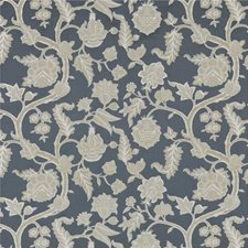 Indigo/Pewter Weave Decorator Fabric by G P & J Baker