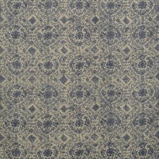 Blue Print Decorator Fabric by Lee Jofa