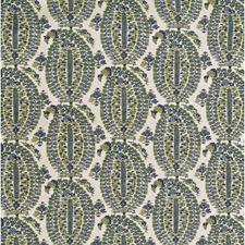 Blue/Green Paisley Decorator Fabric by Lee Jofa