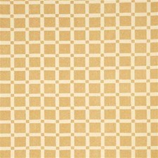 Gold Gingham Decorator Fabric by G P & J Baker