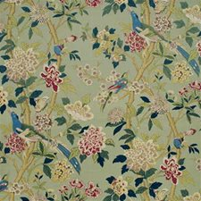 Aqua/Rose Decorator Fabric by G P & J Baker