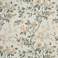 Soft Blue/Grey Print Decorator Fabric by G P & J Baker