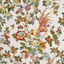 Aqua/Rose/Multi Animal Decorator Fabric by G P & J Baker