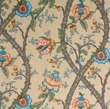 Indigo/Linen Print Decorator Fabric by G P & J Baker