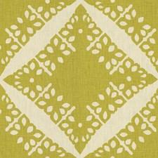 Lime Geometric Decorator Fabric by G P & J Baker