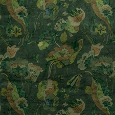 Emerald Botanical Decorator Fabric by G P & J Baker