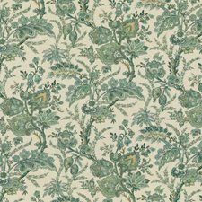 Emerald Paisley Decorator Fabric by G P & J Baker
