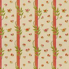 Rose/Mandarin Botanical Decorator Fabric by Brunschwig & Fils
