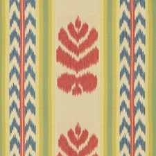 Red and Blue Print Decorator Fabric by Brunschwig & Fils