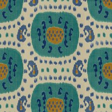 Aqua/Blue Ikat Decorator Fabric by Brunschwig & Fils
