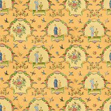 Jaune Asian Decorator Fabric by Brunschwig & Fils