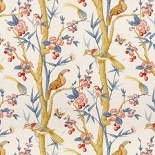 Berry/Slate Print Decorator Fabric by Brunschwig & Fils