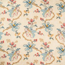 Cream Botanical Decorator Fabric by Brunschwig & Fils