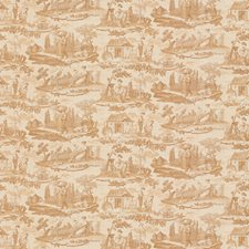 Nutmeg Toile Decorator Fabric by Brunschwig & Fils