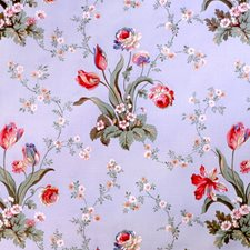 Sky Blue Botanical Decorator Fabric by Brunschwig & Fils