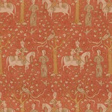 Paprika Figurative Decorator Fabric by Brunschwig & Fils