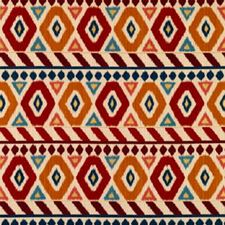 Red/Gold/Blue Geometric Decorator Fabric by Brunschwig & Fils