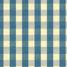 Indigo Check Decorator Fabric by Brunschwig & Fils