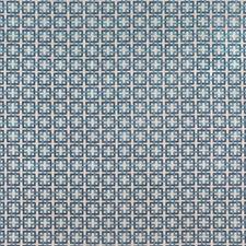China Blue Geometric Decorator Fabric by Brunschwig & Fils