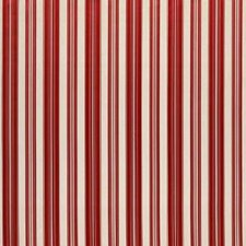 Lipstick Red Stripes Decorator Fabric by Brunschwig & Fils