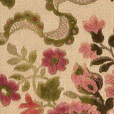 Rose/Moss Decorator Fabric by Scalamandre