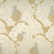 Silver/Gold On Ivory Decorator Fabric by Scalamandre