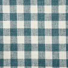 Teal Check Decorator Fabric by Pindler