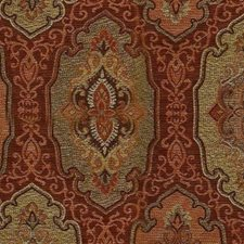 Red Orange Decorator Fabric by RM Coco