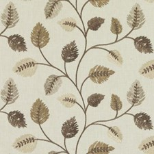 Natural/Brown Embroidery Decorator Fabric by Duralee