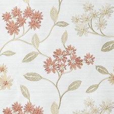 Terra/Green Embroidery Decorator Fabric by Duralee