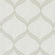 Grey Embroidery Decorator Fabric by Duralee