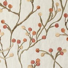 Russett Embroidery Decorator Fabric by Duralee