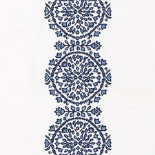 Sapphire Embroidery Decorator Fabric by Duralee