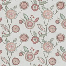 Pink/Teal Floral Decorator Fabric by JF