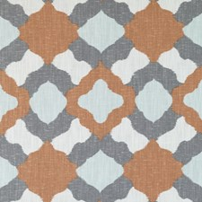 Orange Abstract Decorator Fabric by Duralee